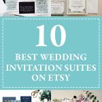 Lo mejor de las suites de invitación de boda de Etsy