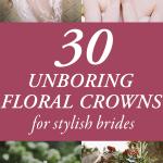 30 coronas florales de pelar para novias elegantes