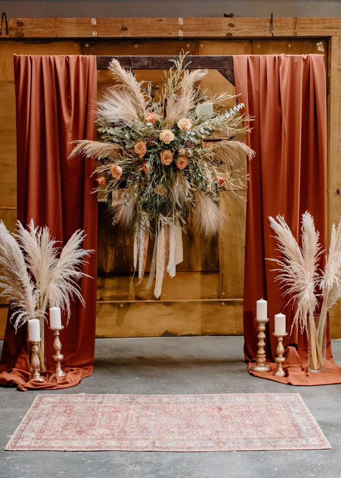 Decoración de boda de imitación grande