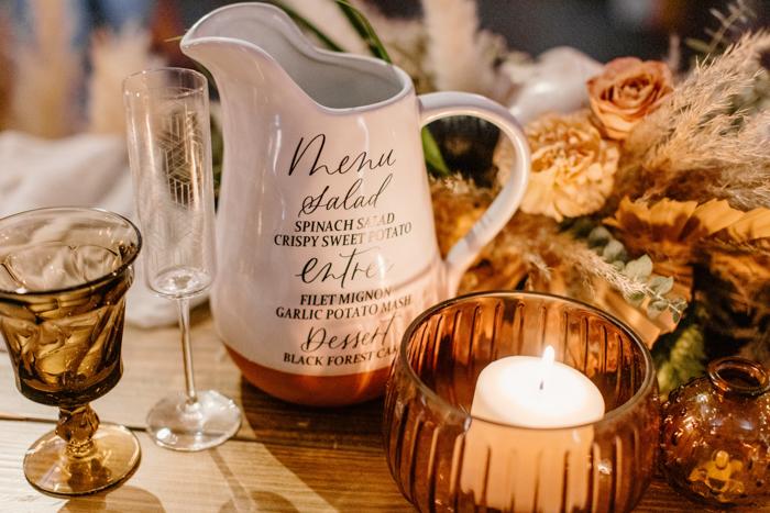 Gran menú de boda falso Ajuste de la mesa 1