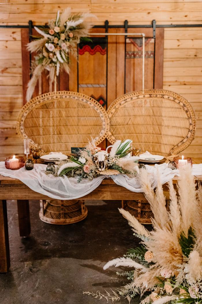 Gran mesa de amantes de la boda falsa