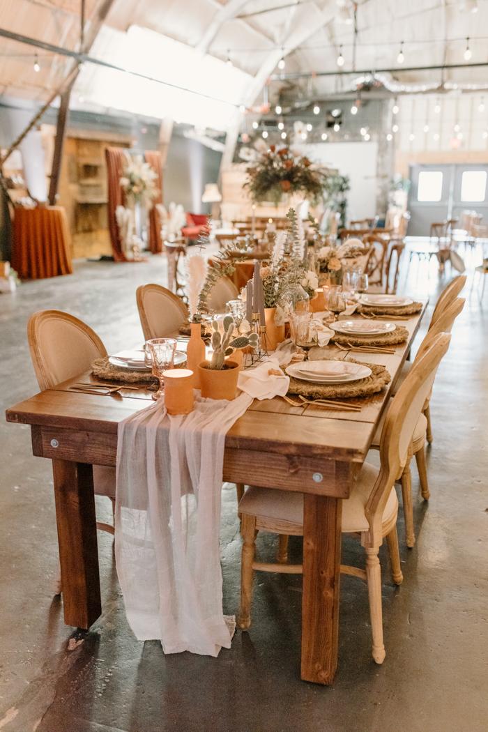 Mesa de boda de imitación grande 1