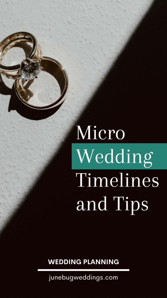 Tabla de consejos y calendarios de boda micro