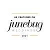 pequeña insignia con bodas de Junebug