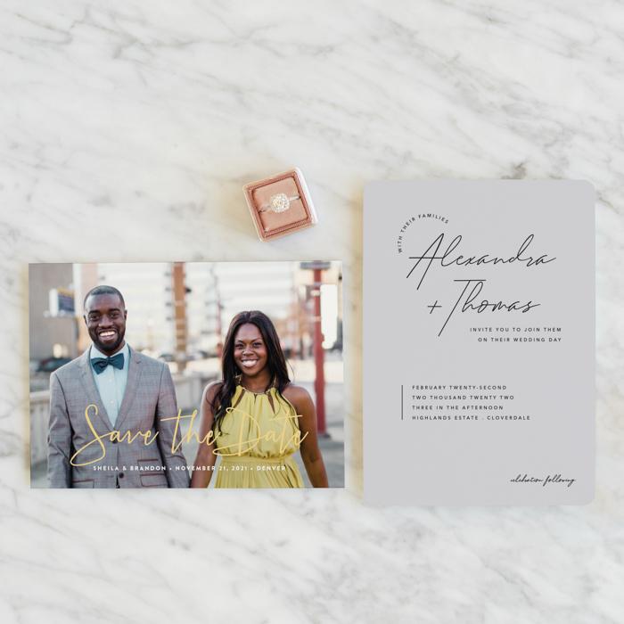 Papelería de boda Mint Pantone