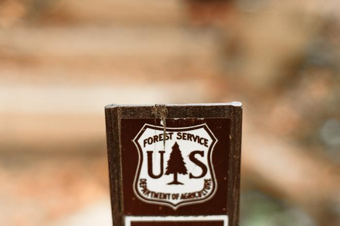 Placa del Servicio Forestal de EE. UU.