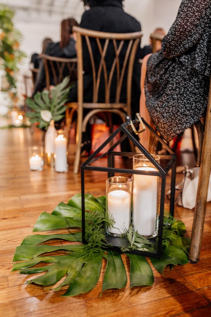 arreglos florales con velas