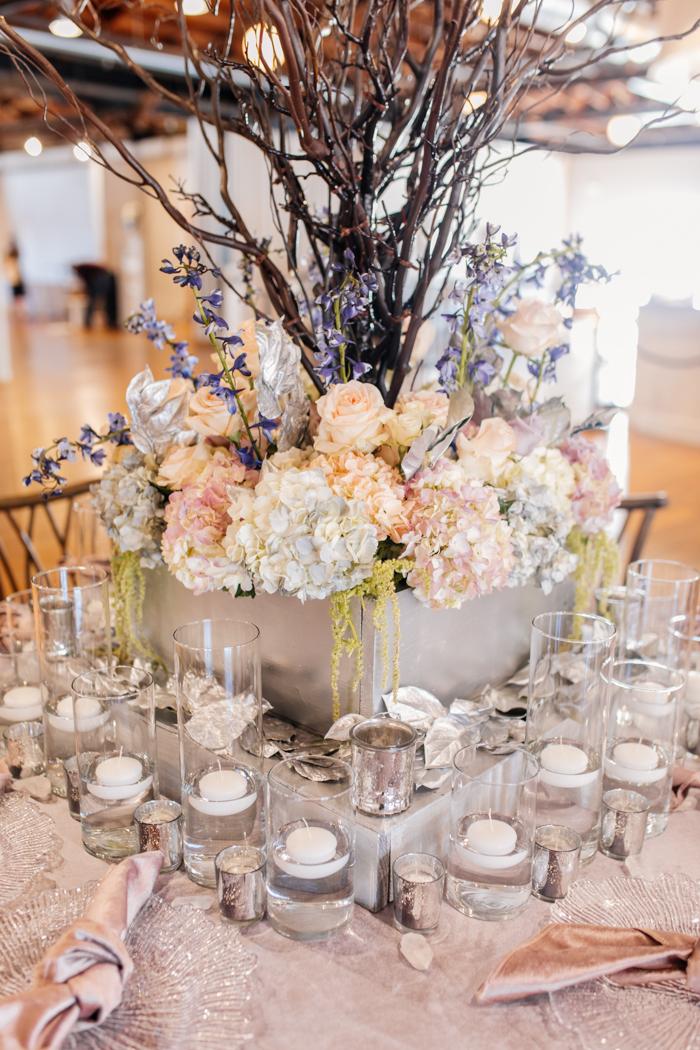 paisaje de mesa floral