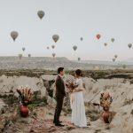 Alerta de fuga única: esta pareja intercambió votos entre más de 100 globos aerostáticos en Capadocia, Turquía