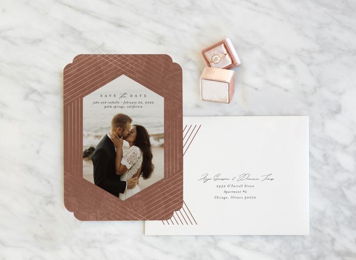 Papelería de boda de menta