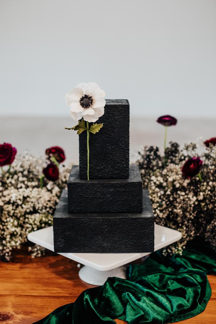 exhibición de la torta abstracta