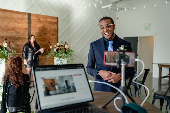 Configuración de boda virtual de Lovecast